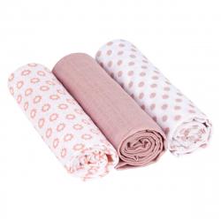 Lässig tetra pelena Swaddle&Burp blanket Little Chums Stars Lihgt Pink 3/1 85x85