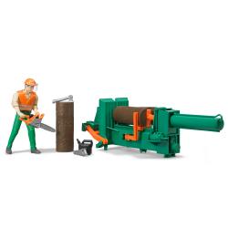 Oprema za sečenje drva sa figurom