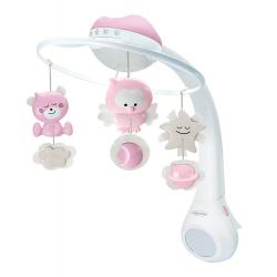 Infantino 3u1 muzička vrteška Pink