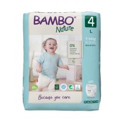 Bambo pelene Nature Pants Size 4 7-14kg 20 kom