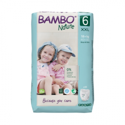 Bambo pelene Nature Pants Size 6 18+ 18 kom