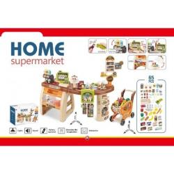 Supermarket veliki set sa kolicima na baterije