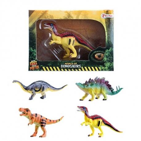 Dinosaurus figura + poster 4ass 37121Z