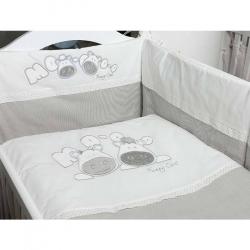 Baby posteljina kravice-U siva