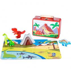 Pino Dinosaurus set kofer