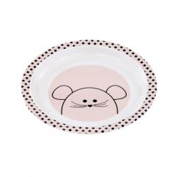 Lässig činija Little Chums Mouse Pink