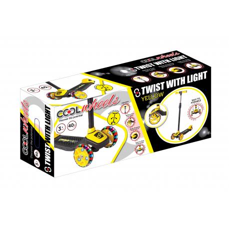 Trotinet Cool 3 tocka Twist svetleci žuti