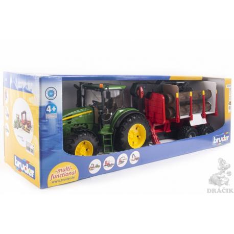 Bruder traktor JD 7930 sa prikolicom za drva