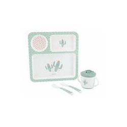KikkaBoo set posuda 4 dela Cactus Mint