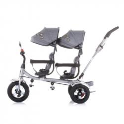 Chipolino tricikl za blizance 2Play Grey