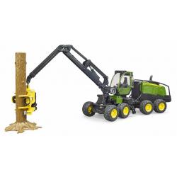 Bruder Traktor JD sa kasikom drva