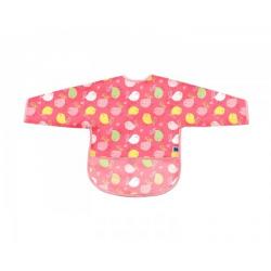 Portikla sa rukavima i odeljkom za mrvice Birds pink