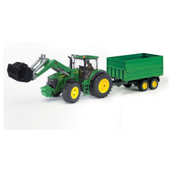 Traktor J D 7930 sa prikolicom i kašikom
