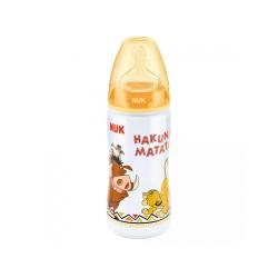 Nuk plastična flašica silikon 6-18 m The Lion King