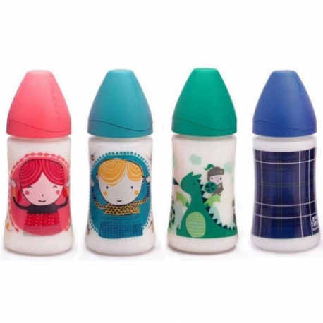 Suavinex plastična flašica kaučuk cucla Podesivi Protok 270ml