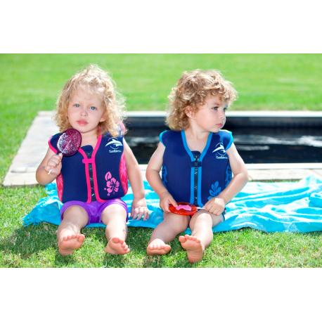 Konfidence prsluk za plivanje Pink Hibiscus 6g-7g
