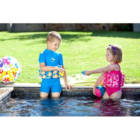 Konfidence dečiji jednodelni kupaći Pink Hibiscus M 2g-3g