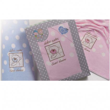 Set čaršafa i jastučnica za kolevku pink