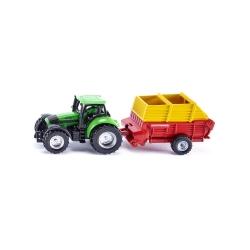 Traktor sa tovarnim vagonom