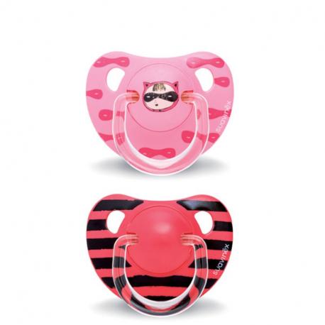 Suavinex Anatomical Pink Secret 18M + varalica set 2kom