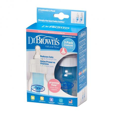 Dr.Browns plastična flašica standard 60ml, 2komada