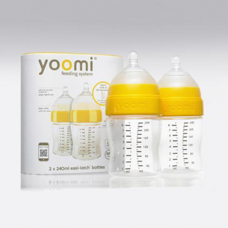 Yoomi 240ml flašica duplo pakovanje plava/roze