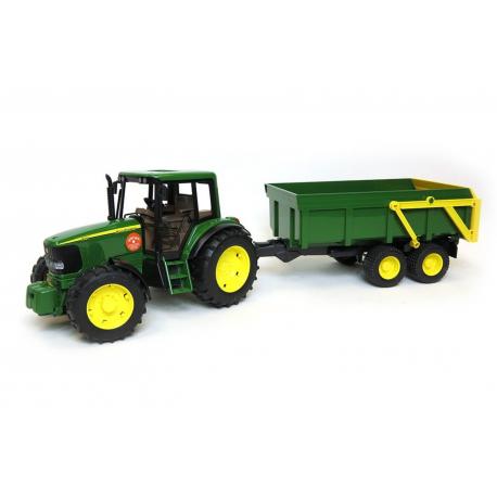 Traktor john deere trac sa prikolicom