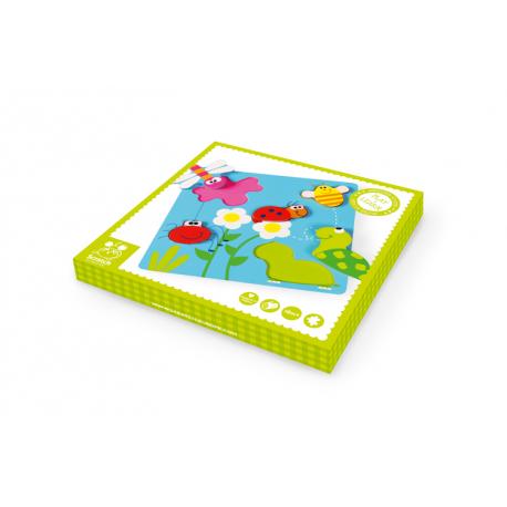 Scratch puzzle na dugmiće Bašta