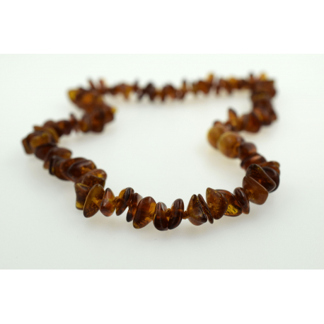 Babyline ogrlica od ćilibara Chips Konjak