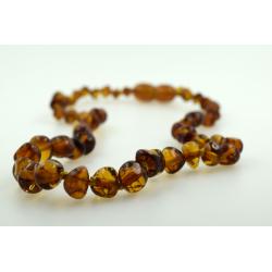 Babyline ogrlica od ćilibara Baroque Konjak