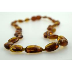Babyline ogrlica od ćilibara Beans Konjak