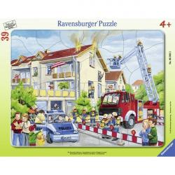 Ravensburger puzzle Hrabri vatrogasci u akciji 2 39kom