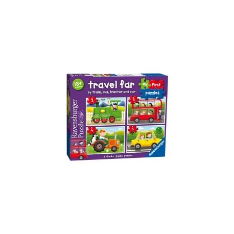 Ravensburger puzzle (slagalice) - Moje prve puzle, 4 u 1,prevozn