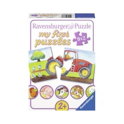 Ravensburger puzzle (slagalice) - Moje prve puzle,9 u 1, na farm