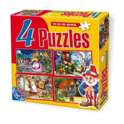 D-Toy puzzle Fairy Tales 4u1