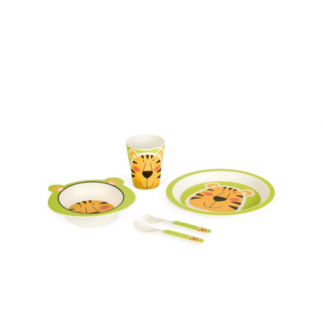 Bigbamboo set za jelo od bambusa Tigar