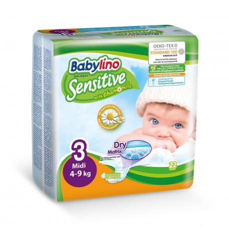 Babylino pelene Sensitive Midi:3 4-9kg 22kg