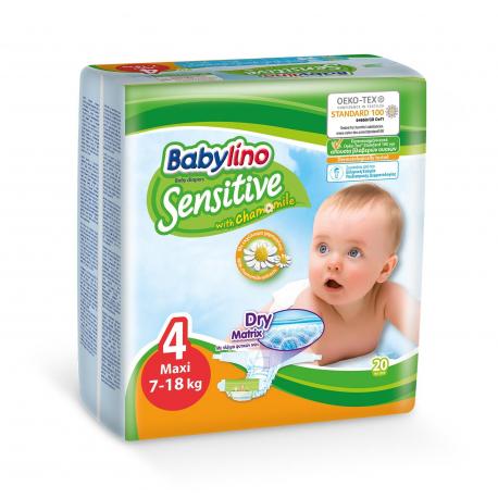 Babylino pelene Sensitive Maxi:4 7-18kg 20kom