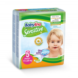 Babylino pelene Sensitive Junior:5 11-25kg 18kom