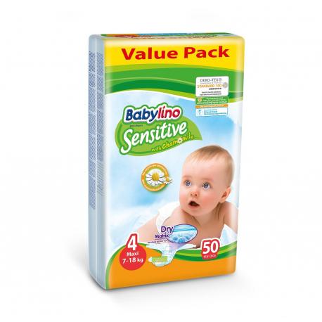 Babylino pelene Sensitive Maxi:4 7-18kg 50kom