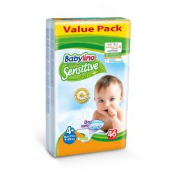 Babylino pelene Sensitive Maxi Plus:4+ 9-20kg 46kom