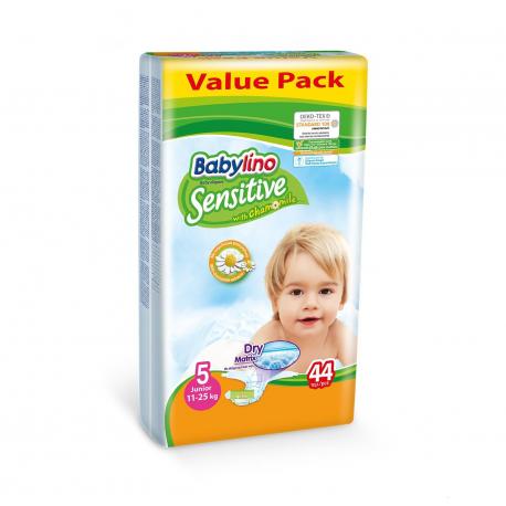 Babylino pelene Sensitive Junior:5 11-25kg 44kom