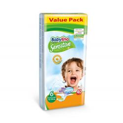 Babylino pelene Sensitive Extra Large:6 15-30kg 40kom