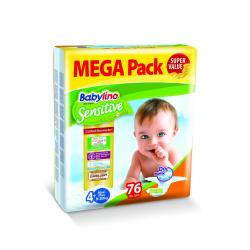 Babylino pelene Sensitive Maxi Plus:4+ 9-20kg 76kom