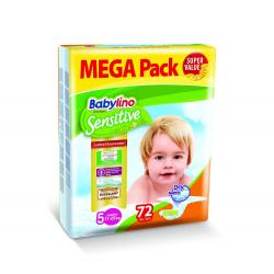 Babylino pelene Sensitive Junior:5 11-25kg 72kom