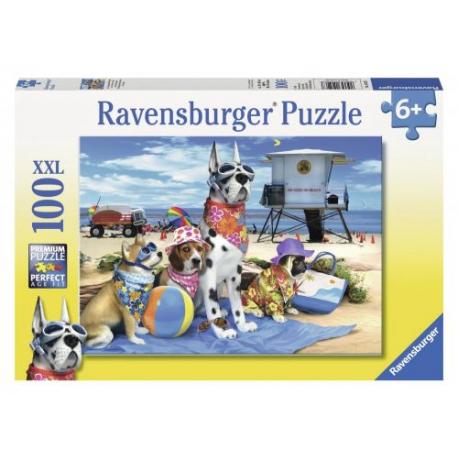Ravensburger puzzle XXL Psi na Plaži