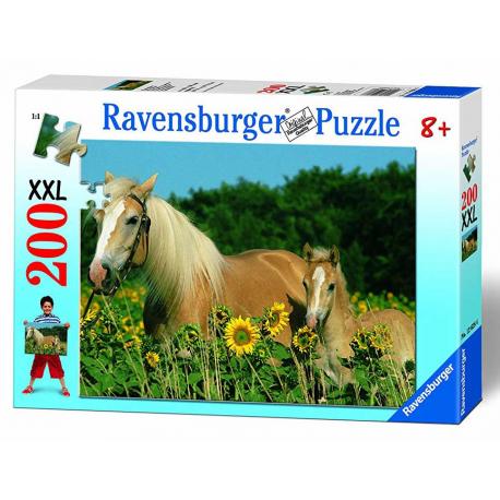 Ravensburger puzzle XXL Konji i Suncokreti 200kom